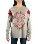T-shirt Harry Potter Gryffindor Characteristic Long Sleeve Jersey Woman Bioworld