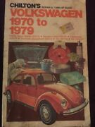 Chiltons Volkswagen 1970 To 1979 Repair And Tune Up Guide, Ships Anywhere Today