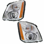 Set Of 2 Driver And Passenger Side Hid Headlamp Assembly Fits Cadillac Dts