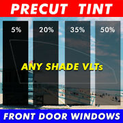 Precut Tint Front Lh+rh Door Windows Computer Cut Any Film Shade For All Cars...