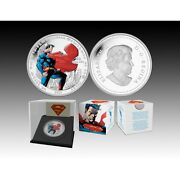 2013 Canadian Silver Coin Superman 75th Anniversary - Man Of Steel 1oz