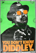 Nitf ☆ Nike Bo Jackson Poster ☆ You Don't Know Diddley. ☆ Never Hung ☆ Excellent