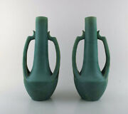 Vallauris A Pair Of Large French Vases In Ceramics 1940 / 50and039s
