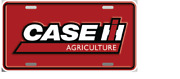 Case Ih Agriculture Solid Red License Plate