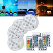 4pc Swimming Pool Light Rgb Led Bulb Underwater Color Vase Decor Lights And Remote