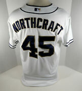 2015 San Diego Padres Aaron Northcraft 45 Game Issued White Jersey
