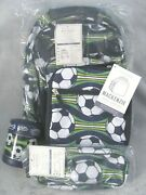 New Pottery Barn Kids Small Soccer Backpack 4 Pc Set Sold Out Last One