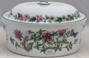 Royal Worcester Herbs 2 Qt Oval Covered Casserole Wild Thyme/black Mustard