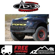 Add Race Series R Front Bumper Plastic Valence Blk For 10-14 Ford F150 Raptor