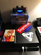 Sony Playstation 4 With Star Wars Controller Wires And 7 Games
