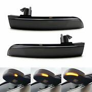 Smoked Lens Rear View Mirror Turn Signal Light For Ford Kuga Ecosport 2013-2018
