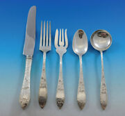Lorraine By Schofield Sterling Silver Flatware For 8 Set Service 44 Pieces