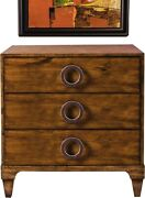Chest Of Drawers Port Eliot French Walnut Solid Brass Circle Handles
