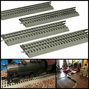 Pack Of 4 O Gauge Straight Track For Lionel Fastrack Train Hobby Collection 10in