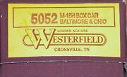 Westerfield 5052 M-15h Box Car Kit Baltimore And Ohio Bando