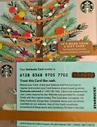 Lot Of 20 - 2016 Starbucks Christmas Tree With Gold Tinsel Gift Card 6128