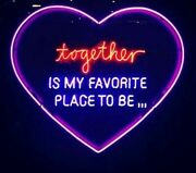Personalised Heart Glass Neon / Unique New Home / Moving In Gift / Loved One