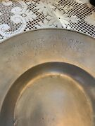 German Pewter Bowl 17th Century Dated 1693