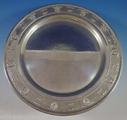 Rose Point By Wallace Sterling Silver Tray Round 14 1145 Serving