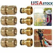 3/4and039 Garden Hose Quick Connect Water Hose Fit Brass Female Male Connector Set