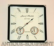 Antique Vintage Collectible Brass Wooden Oxford 1923 Nautical Marine Wall Clock