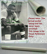 Nitf ☆ Vintage ☆ Old Stock Nike Basketball Poster ☆ Moses Malone ☆ Black And White