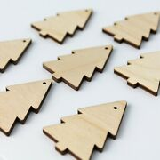 Christmas Tree Unfinished Wood Cutouts Earrings Jewelry Blanks Charms All Sizes
