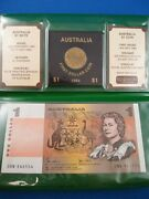 Australia The Last One Dollar Note And The First Dollar Coin