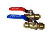 10 Pcs. 1/2 Sharkbite Style Push Fit Ball Valve Hot And Cold, Lead Free Brass