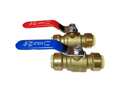 10 Pieces 3/4 Sharkbite Style Push Fit Ball Valve Hot And Cold, Lead Free Brass