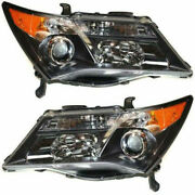 New Set Of 2 Lh And Rh Side Head Lamp Lens And Housing Fits 2007-2009 Acura Mdx