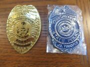 Pennsylvania State Police And Pa Attorney General Agent Junior Toy Plastic Badges