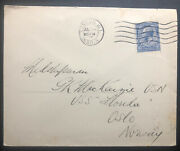 1930 London England Cover To Uss Florida In Oslo Norway