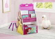 Disney Princess 3 In 1 Activity Center With Easel Desk Stool And Toy Organizer