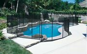 Gli 30-0510-blk Inground Removable Safety Fence 5and039 High X 10and039 Wide Panel - Black