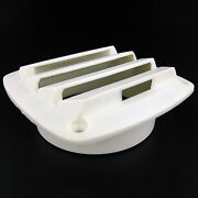 Marine Louvered Vents Round 4 Inch Hose Hull Air Vent Boat Plastic White
