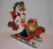 Dept. 56 Possible Dreams Sleigh Bells Mickey And Minnie In Sleigh 4052399