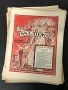 Vtg Watchtower Jehovah's Witnesses Magazine Newspaper Lot Of 15 - 1950