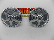 2 Ford 19641/2 1965 Mustang 14 Wheel Cover Hub Caps Good Driver Condition B-5