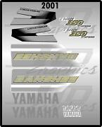 2001 Yamaha Banshee Full Graphics Kit Decals Stickers Thick And High Gloss