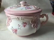 Vintage Arnel's Chamber Pot 3 Pc Pottery Bowl With Cover And Lid 1976