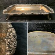 Vintage Epca Poole Silver 408 Silverplate Footed Serving Tray, 18 X 12 1/2