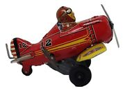 Vintagemarx Rollover Plane Wind Up Tin Great Condition