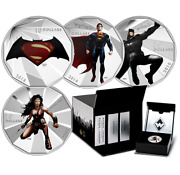 Whole Set Of 2016 Canada Batman V Superman Silver Coin Including 1 Case And 5 Coin