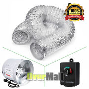 4 6 8 Inch Inline Duct Booster Fanand Air Aluminum Ductingandfan Speed Controller
