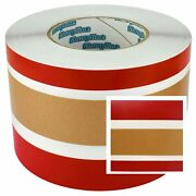Larson Glastron Boat Hull Deck Tape Striping Gold Red 4-1/16 Roll Stripe