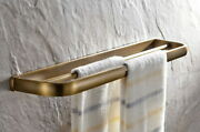 Antique Brass Bathroom Accessory Wall Mounted Double Towel Bars Holder