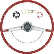 Oer Reproduction Red Steering Wheel Kit 1965 Chevy Bel Air Biscayne And Impala