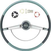 Oer Two Tone Blue Steering Wheel Kit 1965 Chevy Bel Air Biscayne And Impala