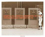 Mickey Mantle Lot Of 2 Fantastic 8x10 Photos Momuments In Centefield + At Plate